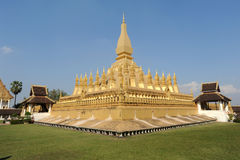 The temple of Pha That Luang at Vientiane Royalty Free Stock Image