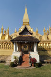 The temple of Pha That Luang at Vientiane Royalty Free Stock Photo
