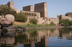 Temple of Philae. The Temple of Philae is located near Aswan on an island of the Nile River Royalty Free Stock Images
