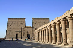 Temple of Philae. At Aswan, Egypt Stock Photos
