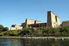 Temple of Philae, Egypt. Temple of Philae view from the Nile Stock Photography