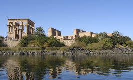 Temple of Philae in Egypt. Sunny illuminated Temple of Philae in Egypt (Africa Royalty Free Stock Photography