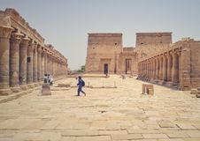The temple of Philea in Aswan royalty free stock photo