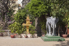 Temple in Phnom Penh Stock Image