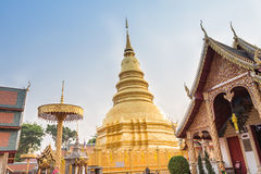 Temple Phra That Hariphunchai Stock Photography