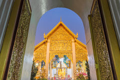 Temple Phra That Hariphunchai Stock Image
