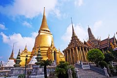 Temple Phra Sri Ratana Chedi in the Grand Palace Royalty Free Stock Images