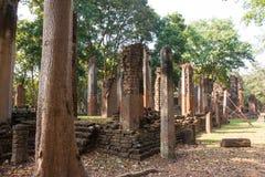 Temple. Pillar Ancient temples , Kamphaeng Phet Royalty Free Stock Photography
