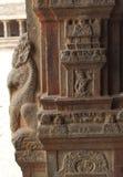 Temple pillar sculpture Stock Image