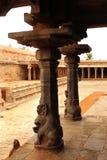 Temple pillar sculptures Royalty Free Stock Photography