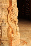 Temple pillar sculptures Royalty Free Stock Photo