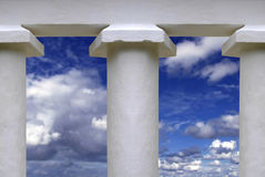 Temple Pillars Stock Photography