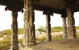 Temple pillars Royalty Free Stock Images