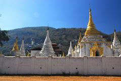 Temple in Pindaya city, Myanmar 1. Stock Photos