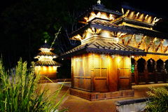Temple Place. A Temple in Brisbane Queensland. Taken at night Royalty Free Stock Photo