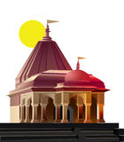 Temple, place of worship. View of temple, place of worship, religion royalty free illustration