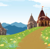 Temple, place of worship, religion. Way to temple, place of worship, religion Stock Photography