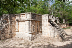 Temple Platform Chichen Itza Mexico Royalty Free Stock Image