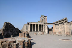 Temple in pompeii. Temple ruins in Pompeii, campania, Italy Royalty Free Stock Images