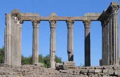 Temple - Portugal. Remains of a Roman temple in Portugal Royalty Free Stock Images
