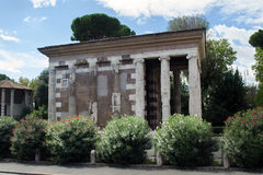 Temple of portunus, rome. Ruins of an ancient roman temple in downtown rome, italy Stock Image