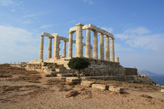Temple of Poseidon. God of the sea, at Cape Sounion near Athens, Greece Stock Images
