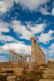Temple of Poseidon. Sounio, Greece Royalty Free Stock Photo