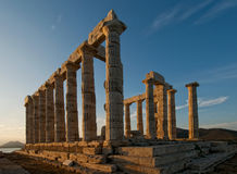 Temple of Poseidon Royalty Free Stock Image