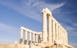 Temple of Poseidon Royalty Free Stock Photos