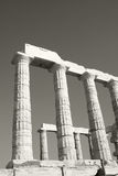 Temple Of Poseidon. Greek ruins located on Cape Sounion, Athens, Greece Royalty Free Stock Photos