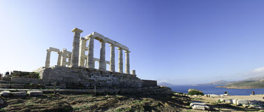 Temple Of Poseidon. Greek ruins located on Cape Sounion, Athens, Greece Royalty Free Stock Photography