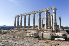 Temple of Poseidon stock photography