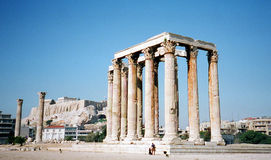 Temple of Poseidon in Athens stock photo
