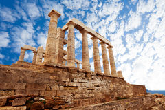 Temple of Poseidon, Athens, on Mediterranean sea Royalty Free Stock Photo