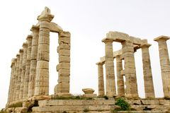 Temple of Poseidon at Cape Sounion Royalty Free Stock Photos