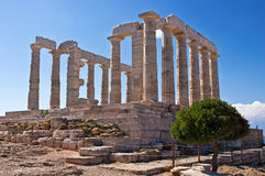 Temple of Poseidon at Cape Sounion Stock Image