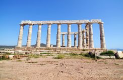 Temple of Poseidon Sounion Greece stock image