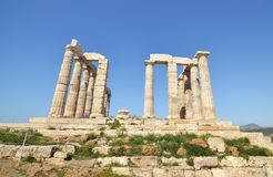 Temple of Poseidon Cape Sounion Greece stock images