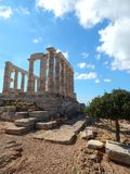 The temple of Poseidon at Cape Sounion, Attica, Greece Stock Photography