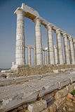 Temple of Poseidon, Cape Sounion, Greece. The Temple of Poseidon at Cape Sounion in Greece royalty free stock photo