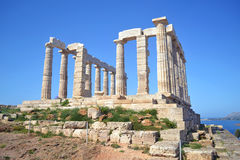 temple of Poseidon Cape Sounion Greece royalty free stock images