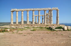 Temple of Poseidon at Cape Sounion Greece royalty free stock photos