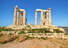 Temple of Poseidon at Cape Sounion Greece stock image