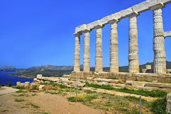 Temple of Poseidon at Cape Sounion Greece royalty free stock image