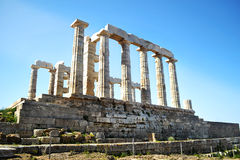 Temple of Poseidon at Cape Sounion Greece royalty free stock photography