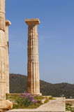 Temple of Poseidon at Cape Sounion near Athens, Greece. Royalty Free Stock Image