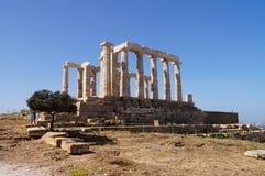 Temple of Poseidon at Cape Sounion near Athens, Greece. Royalty Free Stock Photo