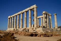 Temple of Poseidon. Royalty Free Stock Photos