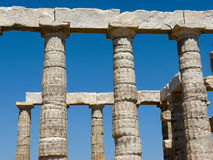 Temple of Poseidon-Neptune in Sounio Greece Stock Images