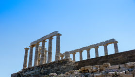 Temple of Poseidon-Neptune in Sounio Greece Royalty Free Stock Images